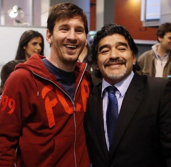 Lionel Messi siempre ha manifestado una gran admiración por Diego Maradona. Fotografía: Instagram Lionel Messi