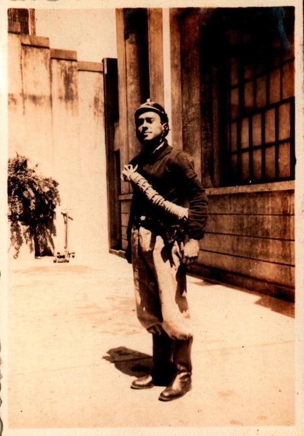 1929. El sargento Edmundo Vicariolli, de la sección médica.