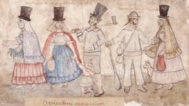 Ropa hecha a mano y trajes de domingo: así vestían los ticos en 1821