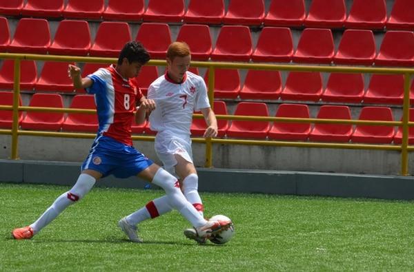 Yarick Solís (8) le anotó ayer tres goles a Canadá. | FEDEFÚTBOL PARA LN