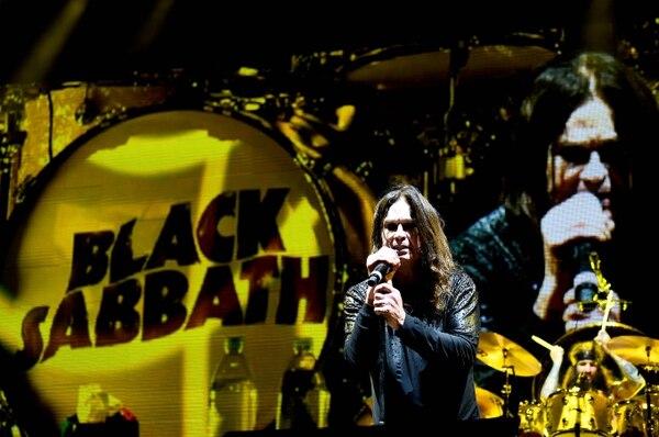 Black Sabbath durante un concierto ofrecido en setiembre del 2016 en Los Ángeles, California.