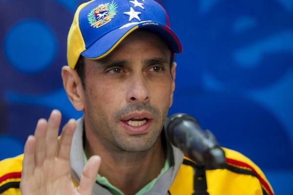 El líder opositor venezolano Henrique Capriles habló durante una rueda de prensa este jueves, en Caracas.