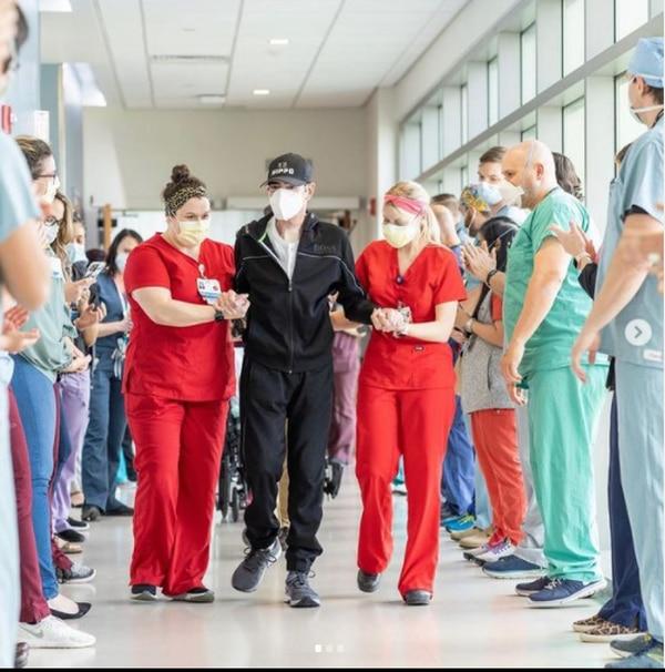 Toño Mauri salió del hospital tras luchar ocho meses contra el coronavirus y sus secuelas. Foto: Instagram El Gordo y La Flaca