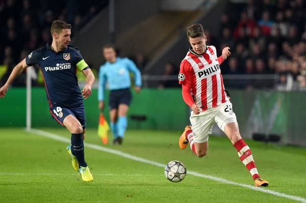 El Atlético de Madrid empató a cero en partido de ida de los octavos de final de la Liga de Campeones ante el PSV.