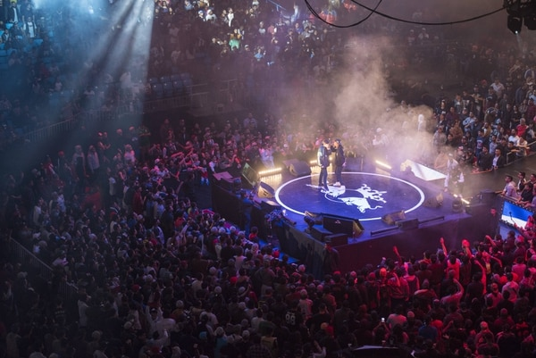 La final internacional de la Red Bull Batalla De Los Gallos se realizó en la Arena México ante un público de 15.000 personas. (Cortesía de Red Bull)