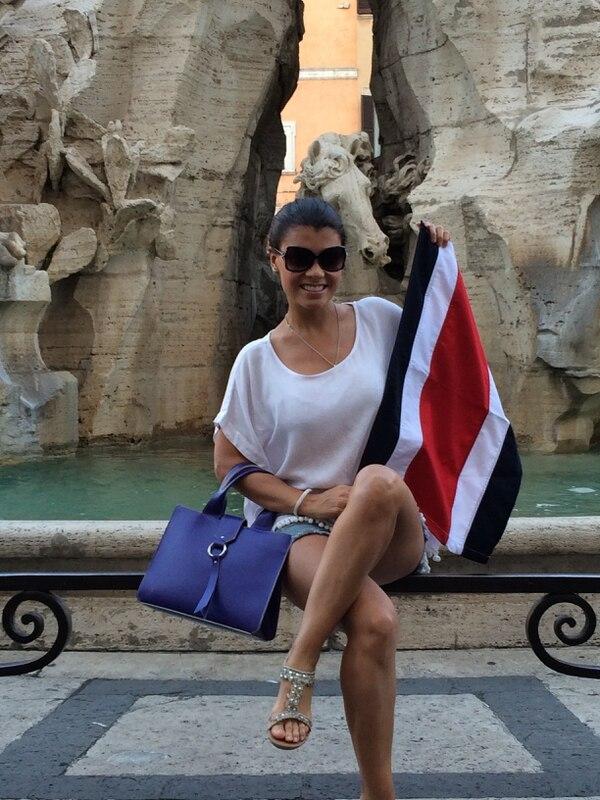 La costarricense Marisol Umaña en Plaza Navona, en Roma.
