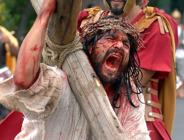 Actores dan vida a figuras bíblicas, en las procesiones de San Joaquín de Flores en Heredia.