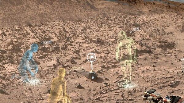 El programa creará hologramas que permitirán mezclar una visión del mundo físico con imágenes del mundo virtual en Marte.   NASA PARA LN