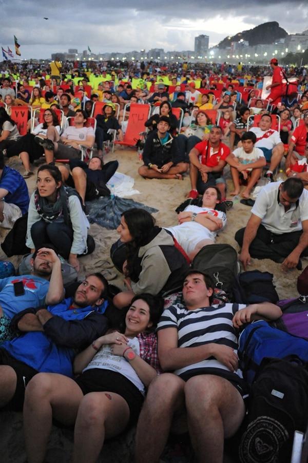 Muchos aficionados observarán la final en un Fan Fest . | XAFP