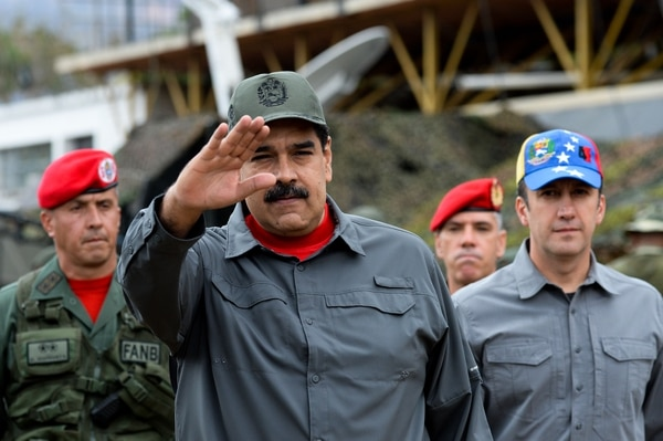 El presidente venezolano, Nicolás Maduro, participó en los ejercicios militares, en Fort Tiuna en Caracas, el 24 de febrero del 2018.