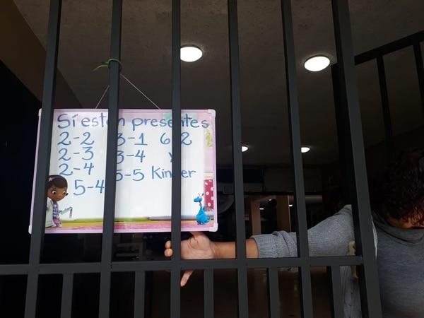 En la escuela unificada República de Perú solo están dando clases a 42 alumnos de 710. Foto: Daniela Cerdas