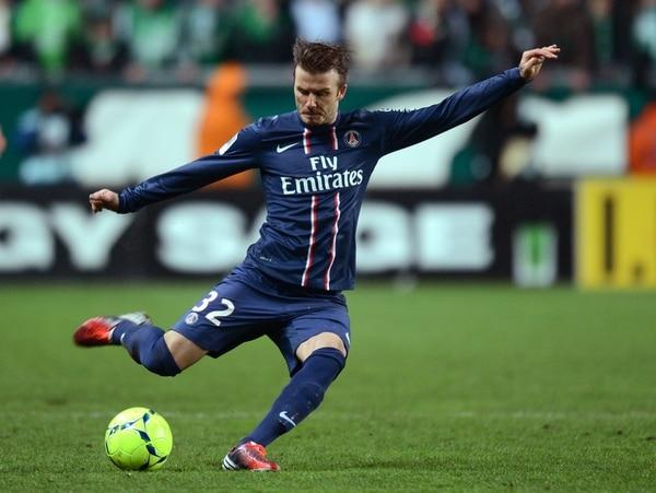 El último equipo para el que jugó el inglés David Beckham fue para el Paris Saint-Germain