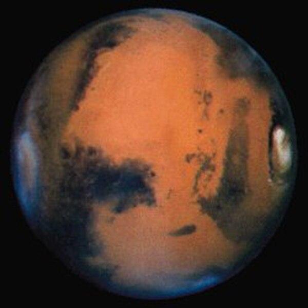 El planeta Marte fotografiado por la NASA
