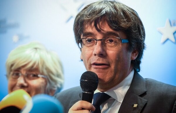 Carles Puigdemont, expresidente de Cataluña, en una conferencia de prensa en Bruselas, el martes 31 de octubre del 2017.