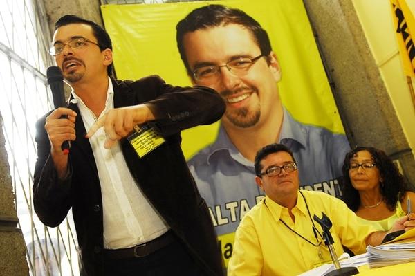 La asamblea del Frente Amplio se hizo el 16 de noviembre, liderada por José María Villalta. | ARCHIVO/ MARIO ROJAS