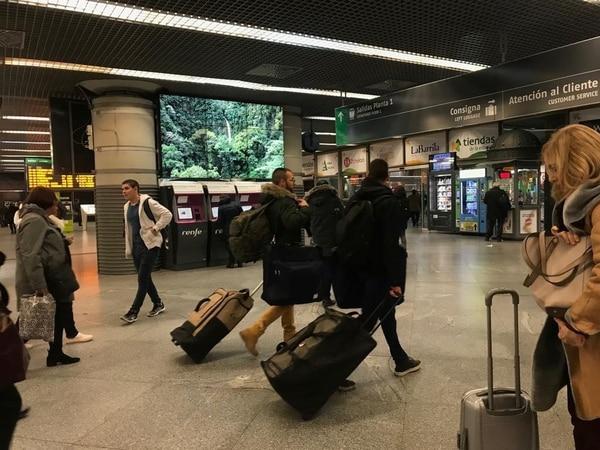 Videos de Costa Rica en la estación de trenes de Atocha. Foto: Cortesía ICT.