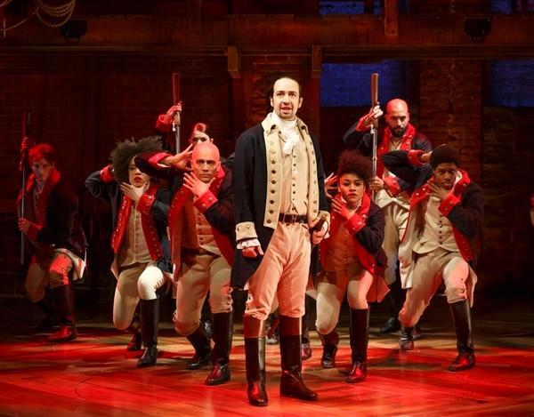 Lin-Manuel Mirandaprotagoniza el musical 'Hamilton' de Broadway.   AP.