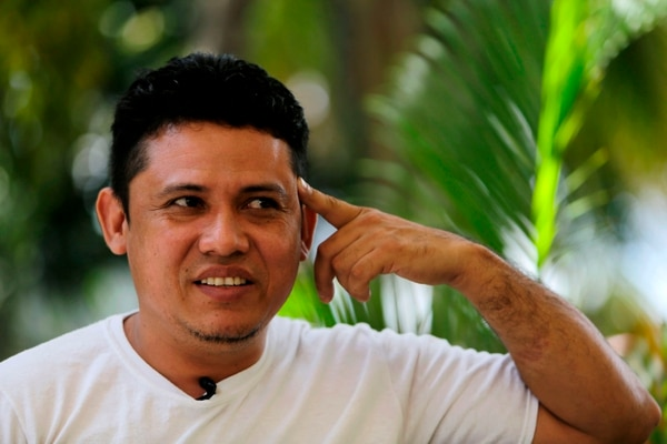 Lenín Rojas fue capturado el 11 de julio de 2018. Este 18 de abril del 2019 se cumplió un año de la represión del régimen de Daniel Ortega y Rosario Murillo. Foto AFP