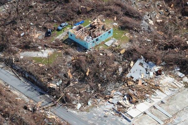 Esta fotografía tomada el 11 de setiembre del 2019 muestra las secuelas del huracán Dorian en la isla de Abaco, en las Bahamas. Foto: AP