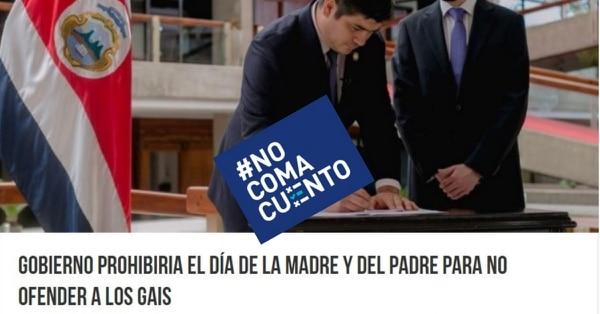 El #NoComaCuento sobre esta noticia falsa se publicó el domingo anterior. Según Noti Costa Rica, para las 3.30 p. m. de este viernes el enlace había compartido 115.000 veces.