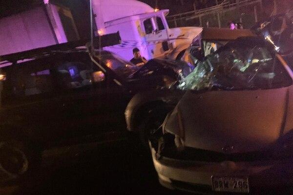 La colisión múltiple se registró en Buenos Aires de Palmares. Foto: Pegando Porte