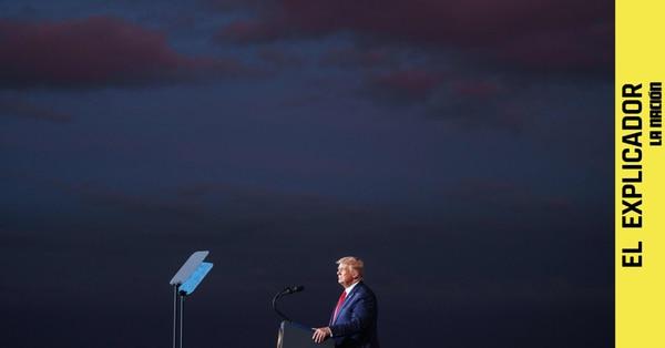 Donald Trump durante una conferencia en setiembre de 2020. Foto: MANDEL NGAN / AFP