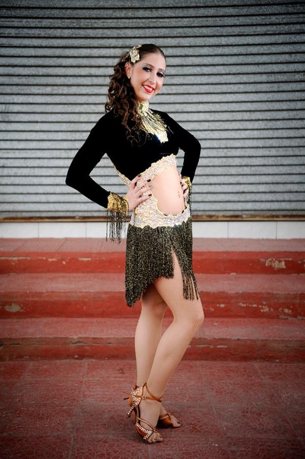 Lucía Jiménez, de 25 años, practicó la gimnasia olímpica en sus primeros años de vida. Foto: Marcela Bertozzi