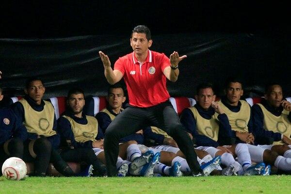 Rónald González es el técnico de la Selección Nacional Foto: Rafael Pacheco