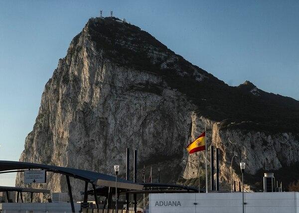 Aduana de España en la Línea de la Concepción, en la frontera con el peñón de Gibraltar.
