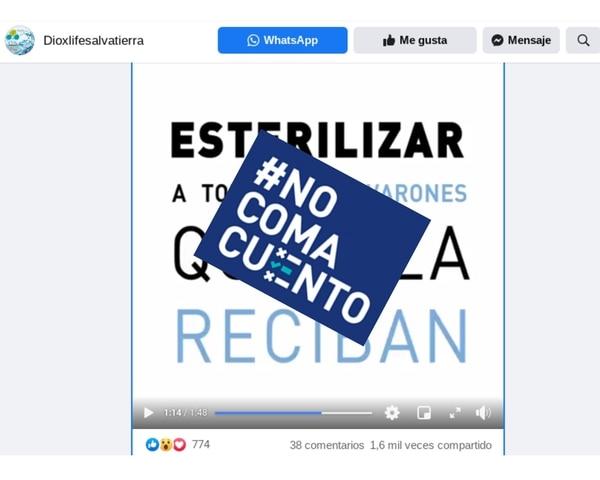 En un video de Facebook, la médica argentina Chinda Brandolino asegura que las vacunas contra la covid-19 dejarán estériles a todos los hombres que las reciban y afirma que estas son