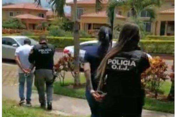 El empresario de apellidos González Hernández y su esposa, apellidada Jiménez Araya, cayeron en San Joaquín de Flores, en Heredia. Foto: OIJ.