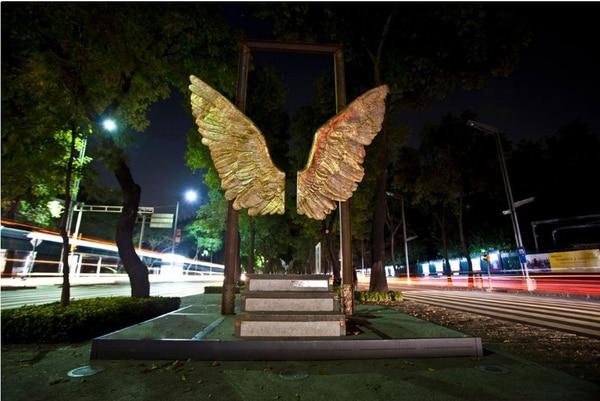 Escultura 'Alas de México está hecha de bronce. La versión costarricense de la escultura contará con una rampa para que las personas con discapacidad puedan disfrutar de la atracción. Foto: Jorgemarin.com.mx