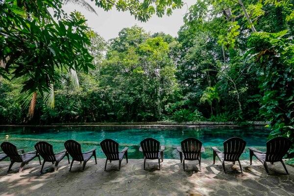 La piscina de agua termal en Santo Domingo, Ometepe, estaba desolada el 25 de octubre del 2018.