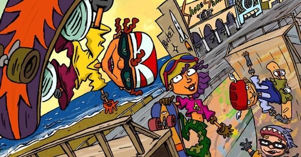 'Rocket Power' fue protagonizada por Otto, Reggie, Sam y Twister (en orden usual). Fue emitida hasta el 2004. Foto: Nickelodeon