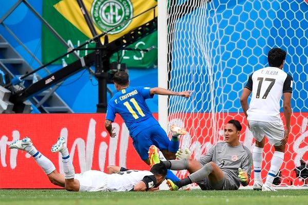 Coutinho consiguió la anotación en el epílogo, cuando había poco que hacer. Fotografía: AFP.