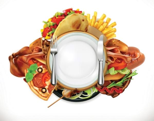 El fenómeno del atracón consiste en comer grandes cantidades de comida en un solo espacio de tiempo. Ilustración: Shutterstock