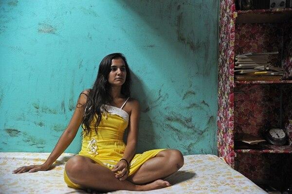 Fotografía de la actriz Adriana Álvarez durante la grabación de 'Puerto Padre'. La imagen se captó el 20 de septiembre del 2011 en el Hotel Las Hamacas, en Puntarenas. Fotografía: Mayela López.