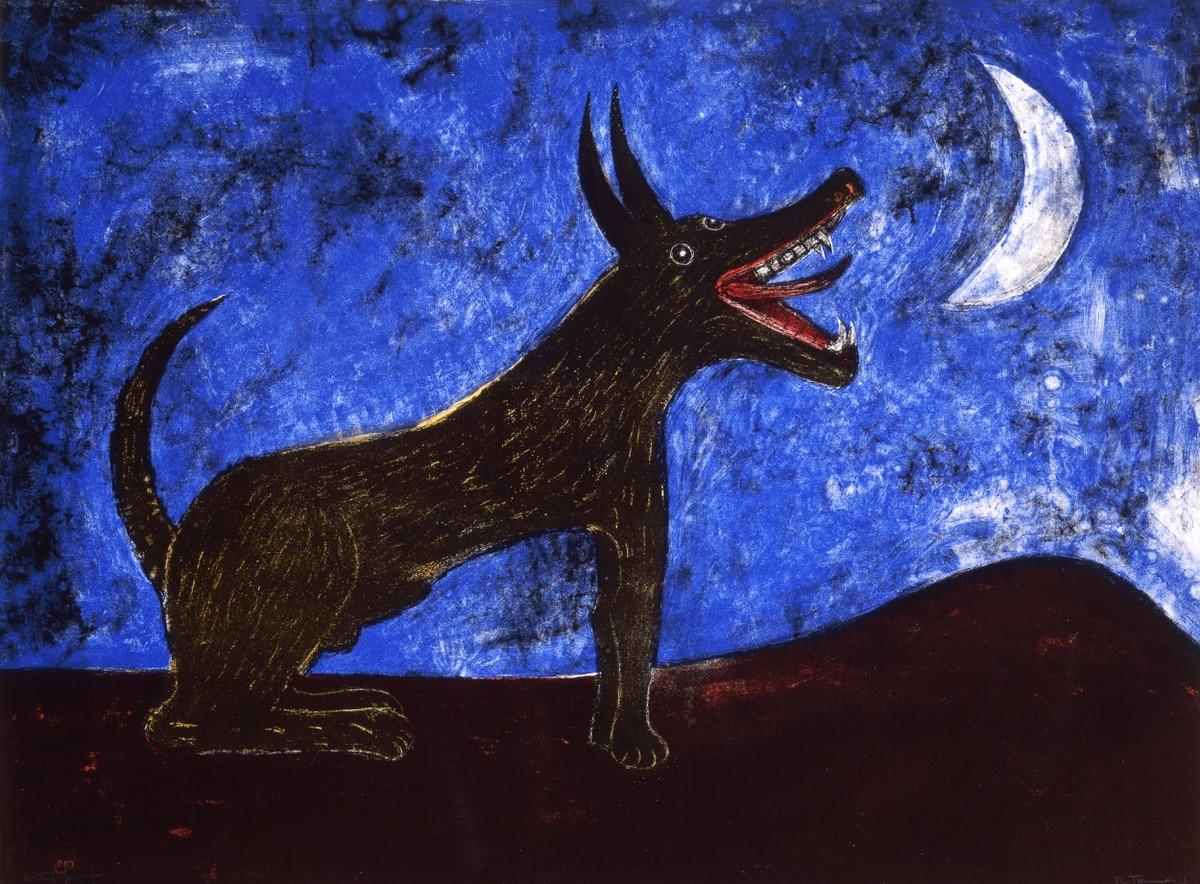 собака воет на луну картинка территории есть