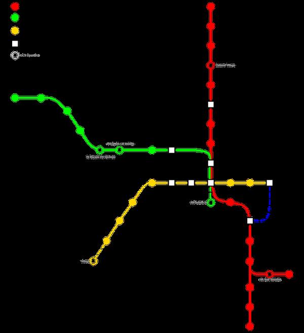 Estas son parte de las rutas que cubrirá el metro de Doha.