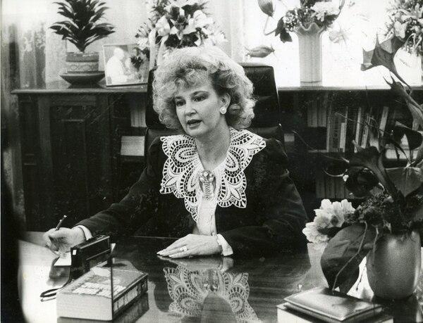 Rose Marie Karpinsky, presidenta legislativa de 1986 a 1987.