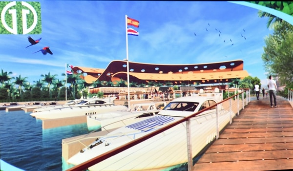 La terminal de cruceros también contaría con una marina para yates de lujo.