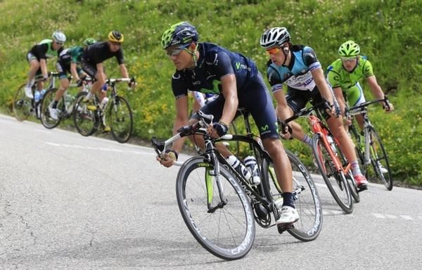 Andrey Amador corre por segundo año consecutivo el Tour de San Luis, Argentina.