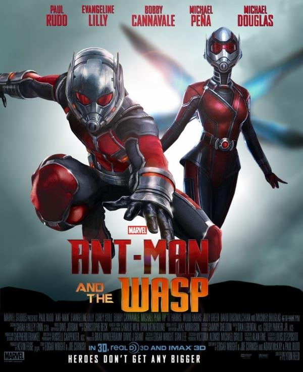 Póster oficial de Ant-Man y la Avispa, de Marvel.