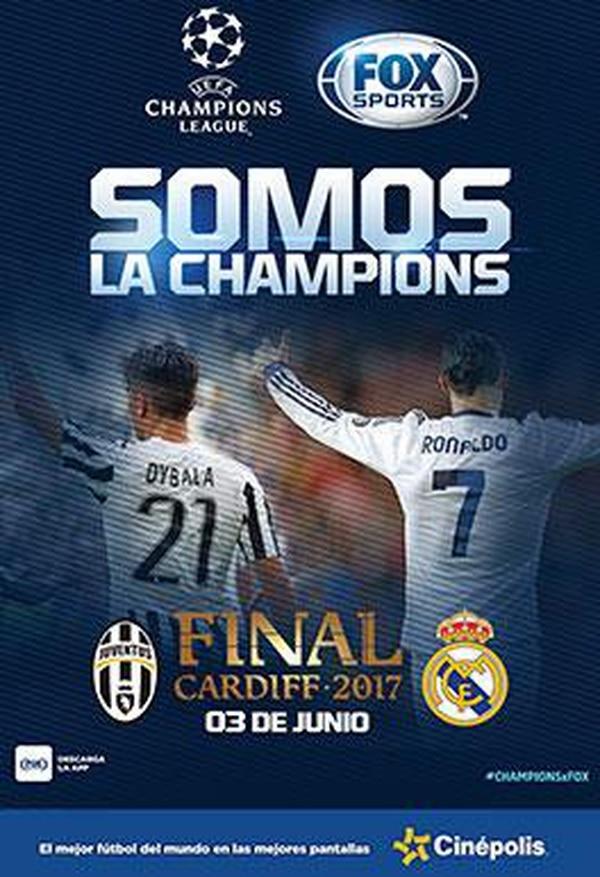 Así promociona Cinépolis el encuentro final de la Champions League.