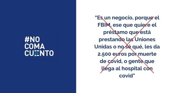 Las afirmaciones falsas sobre el dinero que supuestamente le da el FMI al Estado por cada fallecido y hospitalizado con covid-19 se difunden en un audio anónimo, el cual se viralizó en WhatsApp.