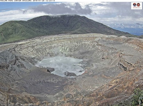 El volcán Poás se encuentra en una etapa en la disminuyeron las emanaciones de gases y las erupciones.