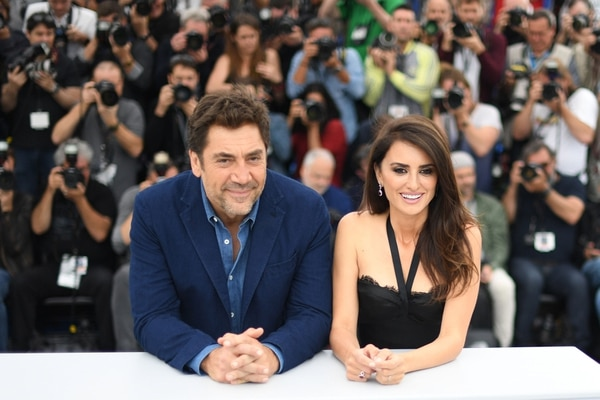 Javier Bardem y Penélope Cruz en Cannes. AFP