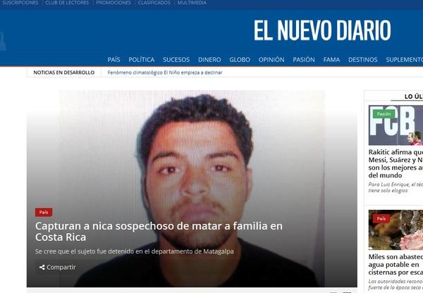 Según el Nuevo Diario de Nicaragua, Salmerón cayó en Matagalpa, departamento ubicado al noreste de Managua.