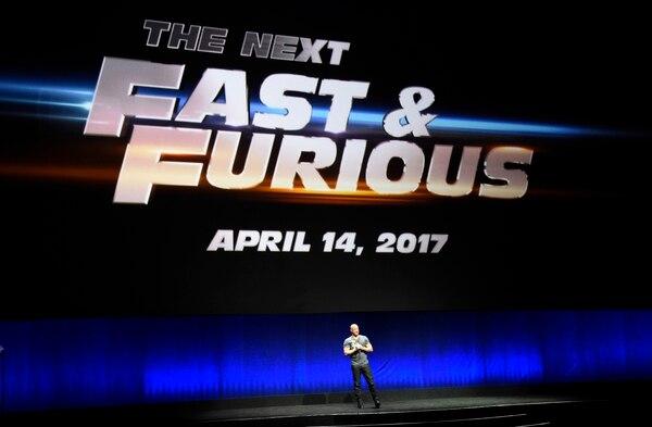 El actor Vin Diesel fue parte del anuncio que hizo la compañía Estudios Universal sobre la octava entrega de