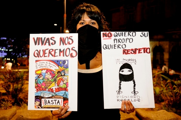 En el 2016 se dio una marcha contra el acoso callejero en San José. Foto Rafael Murillo